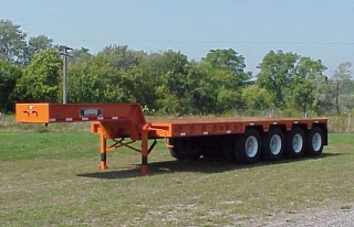 ROGERS® 110 ton capaity trailer built for off-road service.