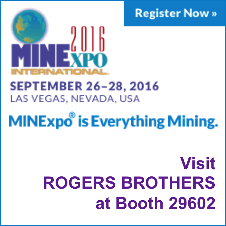 MINExpo 2016 - Visit Us at Booth #29602