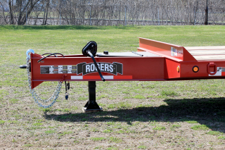 The 80 inch long drawbar provides improved weight distribution and superior handling.  Safety chains are integral to the drawbar frame and are easily adjustable to properly fit the towing vehicle.