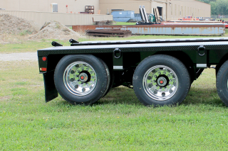 Air lift on 3rd axle allows the trailer to be operated as a tandem when empty of lightly loaded.