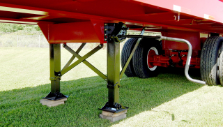 Heavy-duty two-speed landing gear set