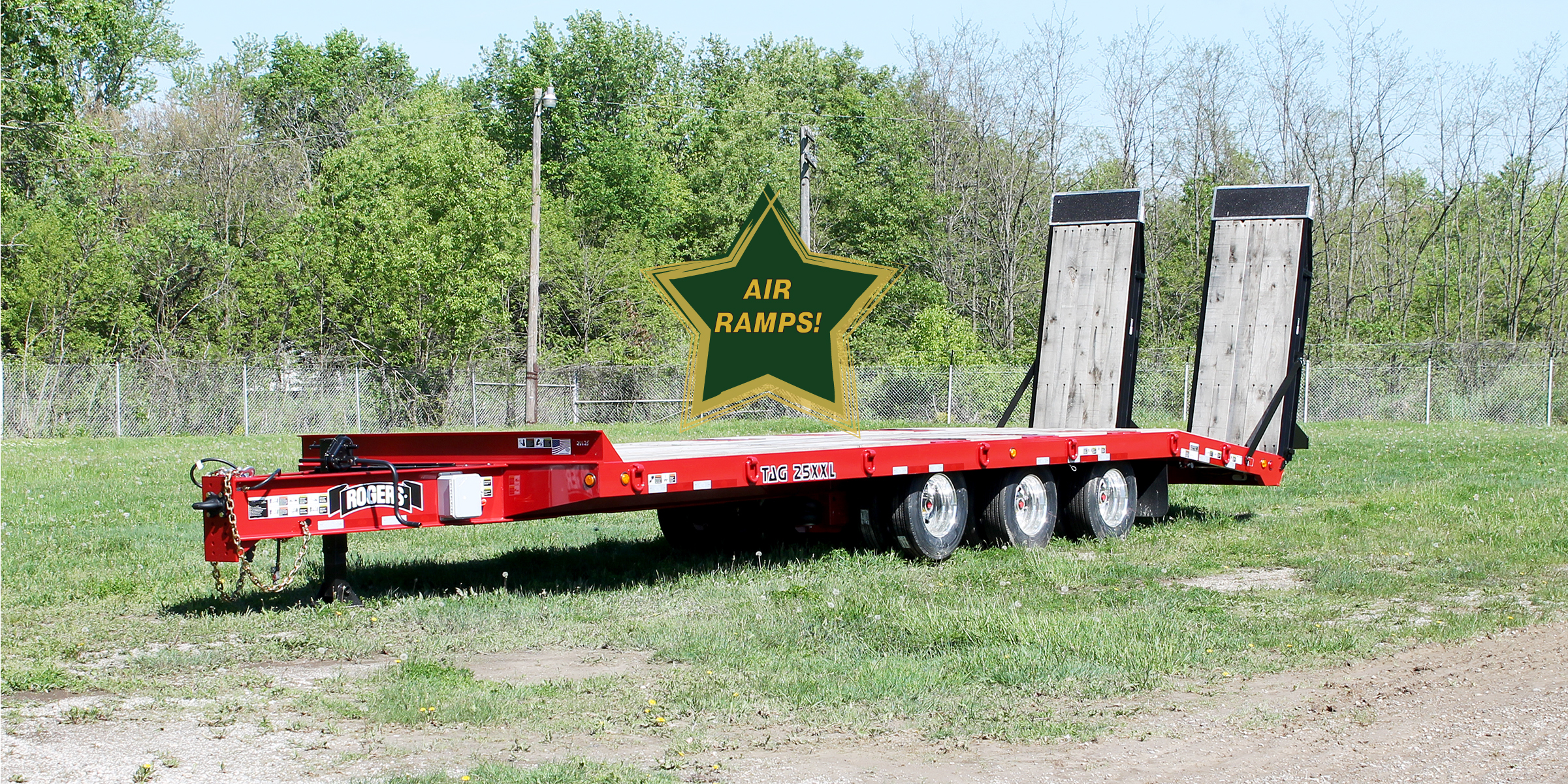 25 Ton Tag25xxl Al Air Ramps Tag Along Trailer Rear Loading 1 4 Wiring Quotes