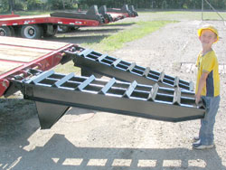 Rear Loading Ramps / ''E-Z'' Flip Manual, Ladder-Style