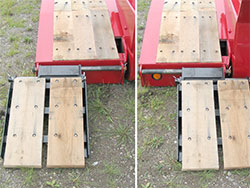 Front Folding Ramps, Laterally Adjustable
