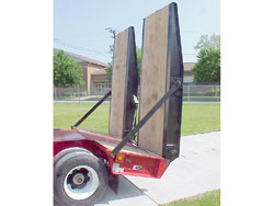 Rear Loading Ramps / Hydraulic-Powered, Wood-Covered