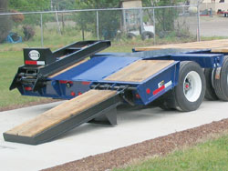 Rear Loading Ramps / Manual, Wood-Covered