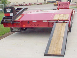 Rear Loading Ramps / Wood-Covered